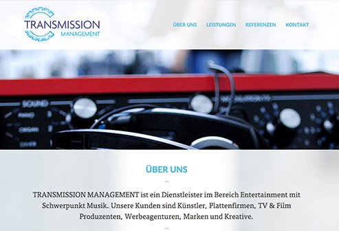 'Transmission Management' Webseite